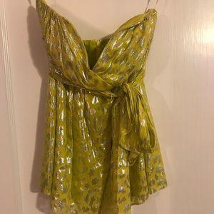 Trina Turk strapless top with sash